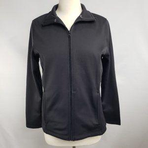 Emily B Black Neoprene Warmup Jacket